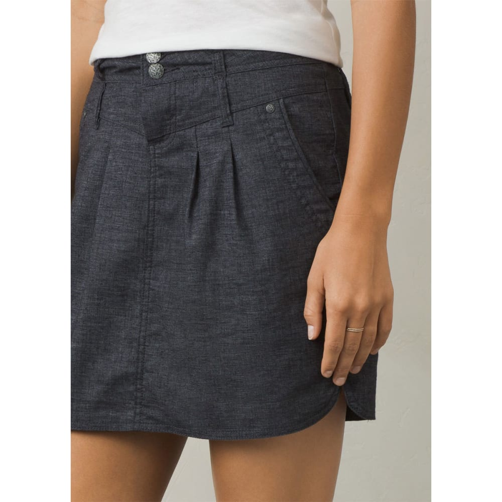 PRANA Women's Lizbeth Skirt - COAL-COAL