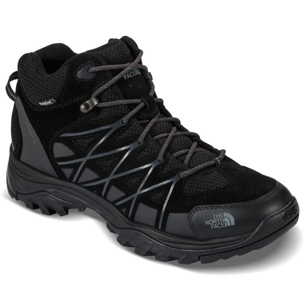THE NORTH FACE Men's Storm III Mid Waterproof Hiking Boots, Black/Grey 8
