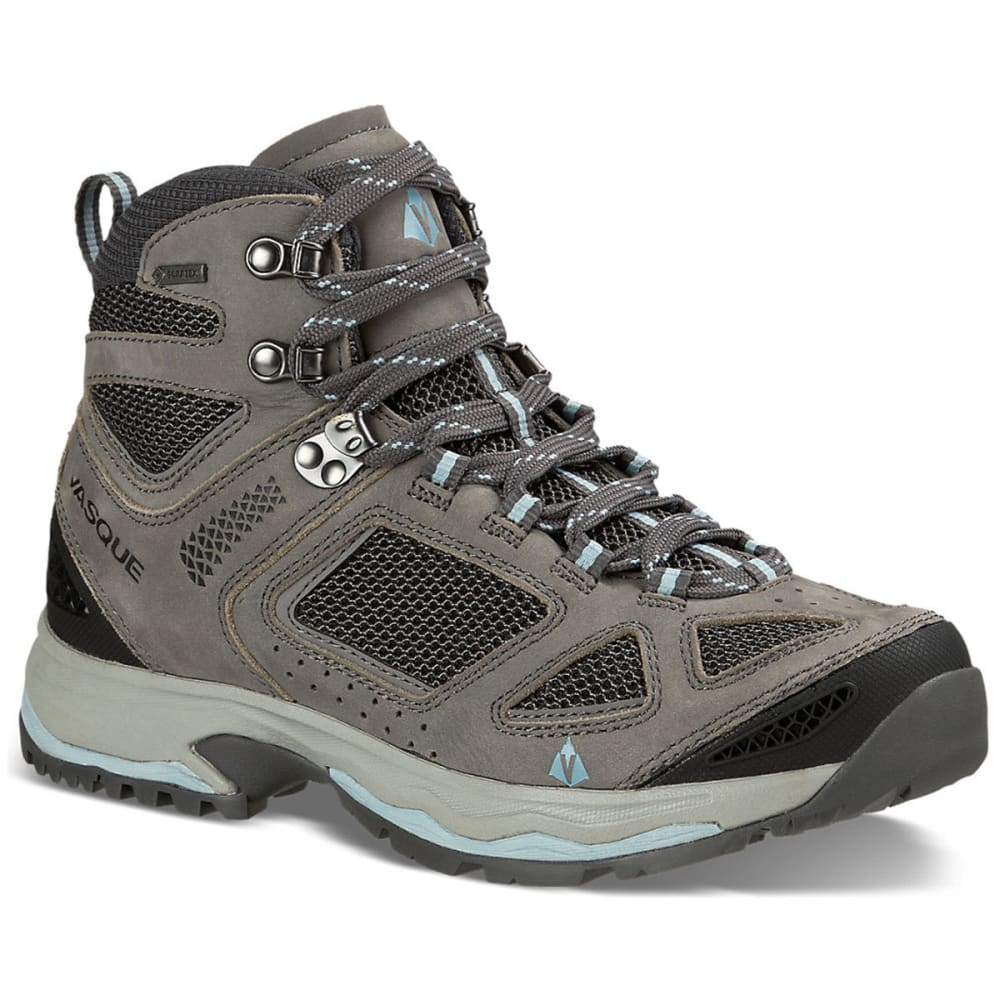 VASQUE Women's Breeze III GTX Hiking Boots, Wide - GARGOYLE/STONE BLUE