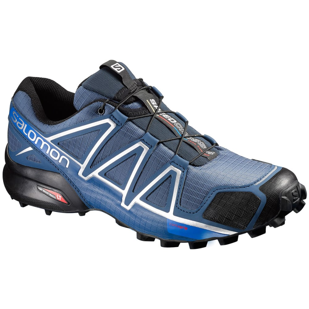 Salomon Men's Speedcross 4 Trail Running Shoes, Slate Blue - Blue - Size 8 383136