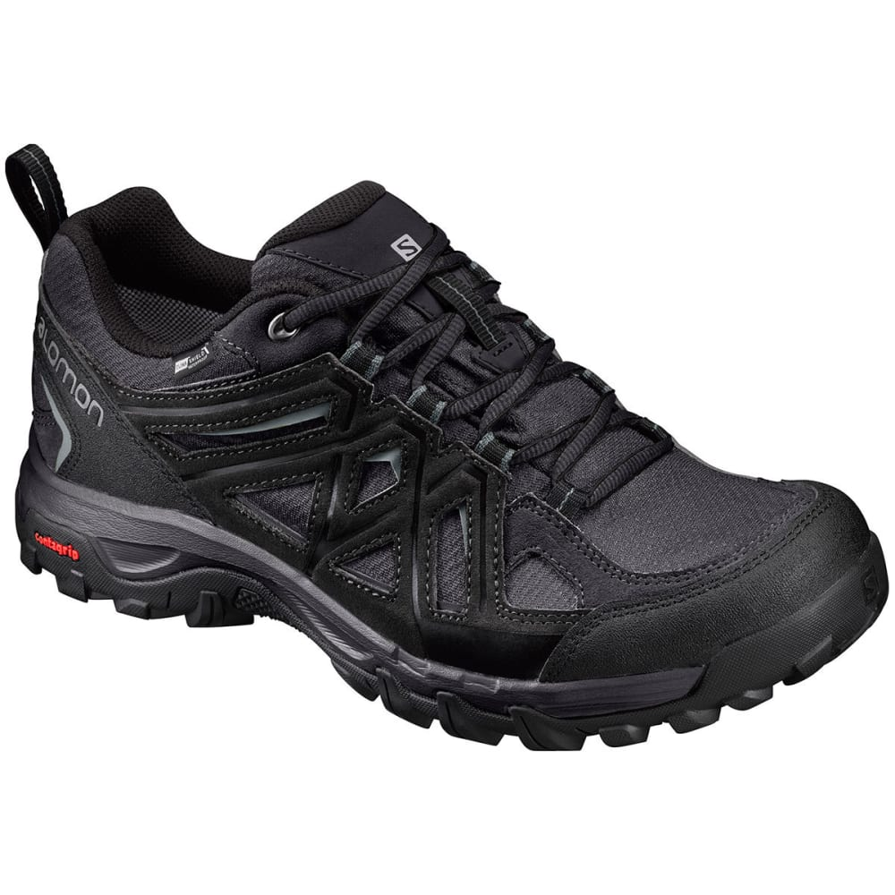 SALOMON Men's Evasion 2 CS WP Hiking Shoes, Black - BLACK