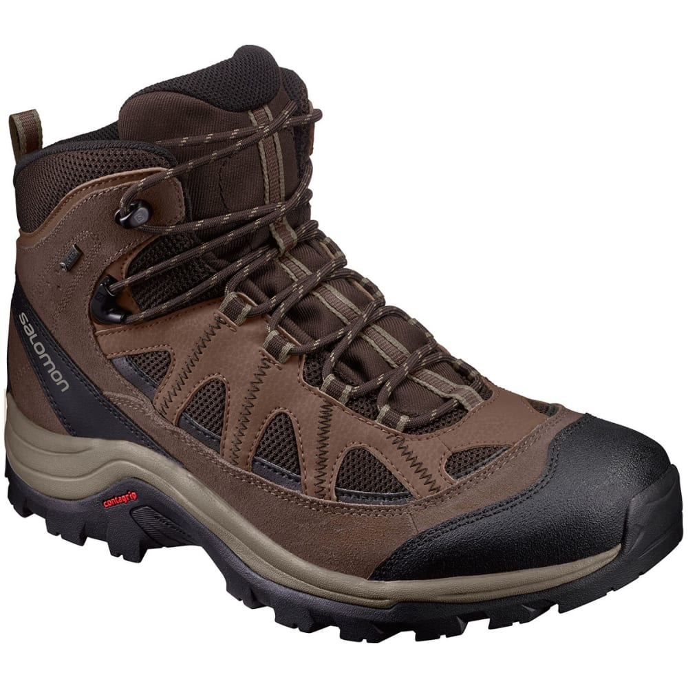 SALOMON Men's Authentic LTR GTX Hiking Boots, Black/Coffee - BLACK COFFEE