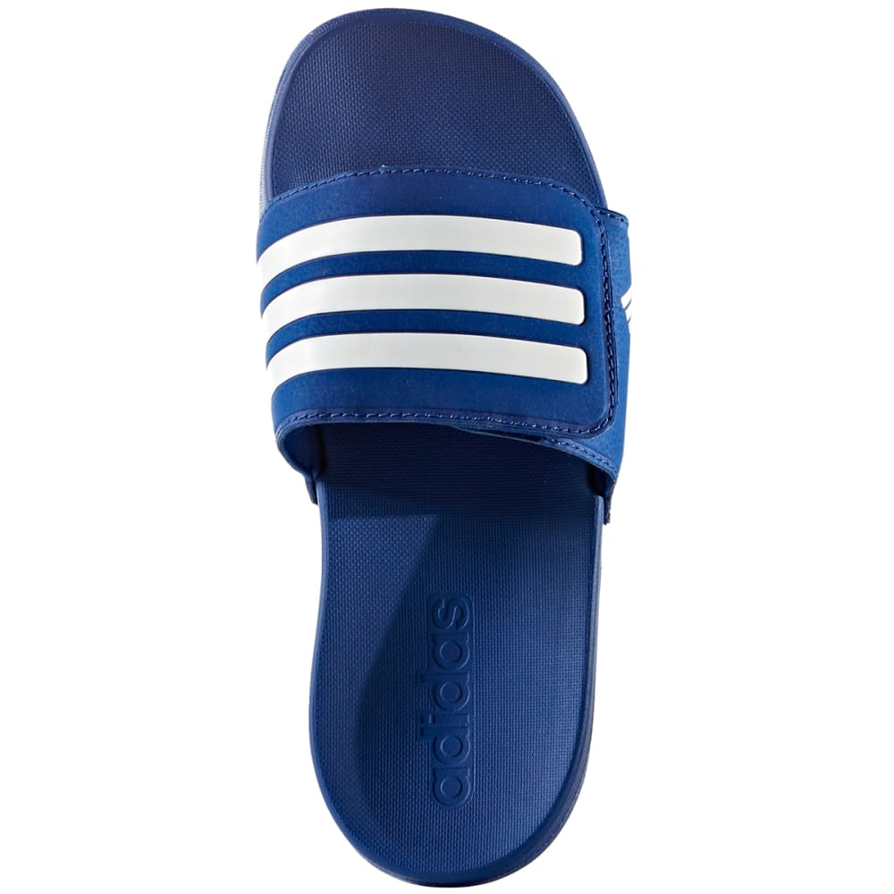 ADIDAS Boys' Adilette Adjustable Slides - ROYAL BLUE