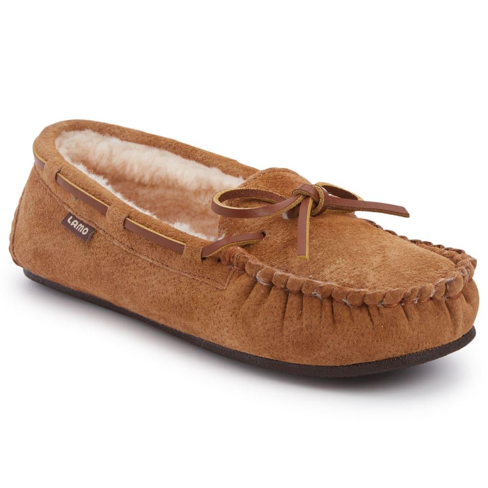 LAMO Women's Kayla Sherpa Moccasin Slippers, Chestnut - CHESTNUT