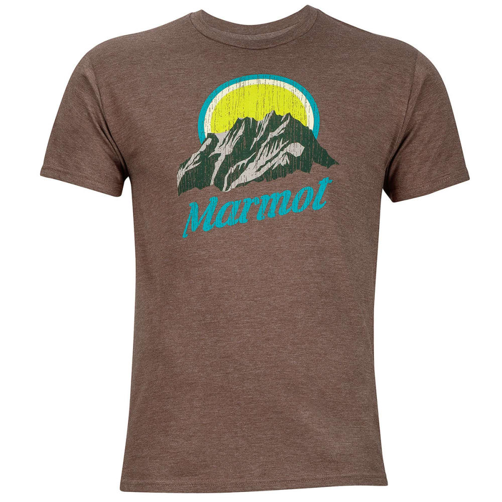 MARMOT Men's Pikes Peak Graphic Tee - 8827-TRUE BROWN HTHR