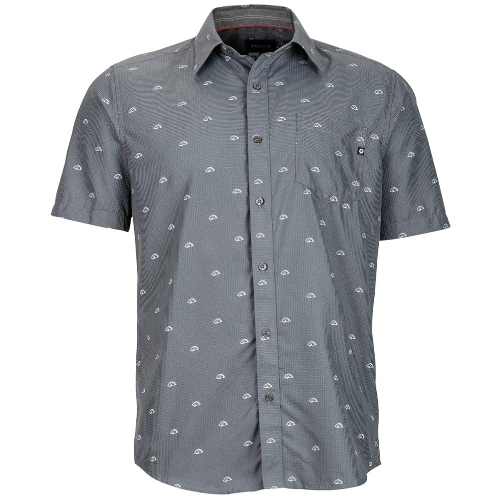 MARMOT Men's Notus Short-Sleeve Shirt - 1415-CINDER