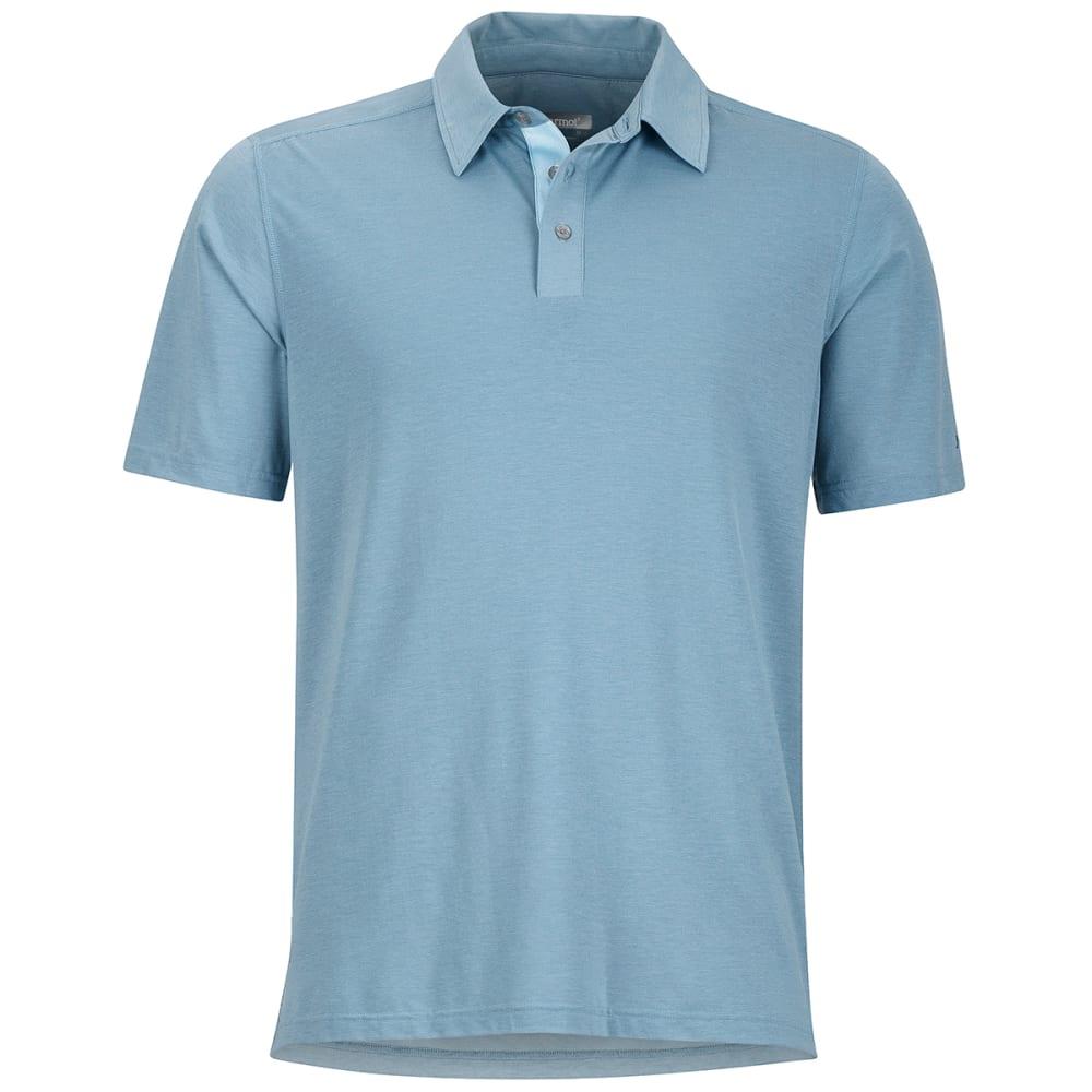 MARMOT Men's Wallace Short-Sleeve Polo Shirt - 3819-BLUE GRANITE HT