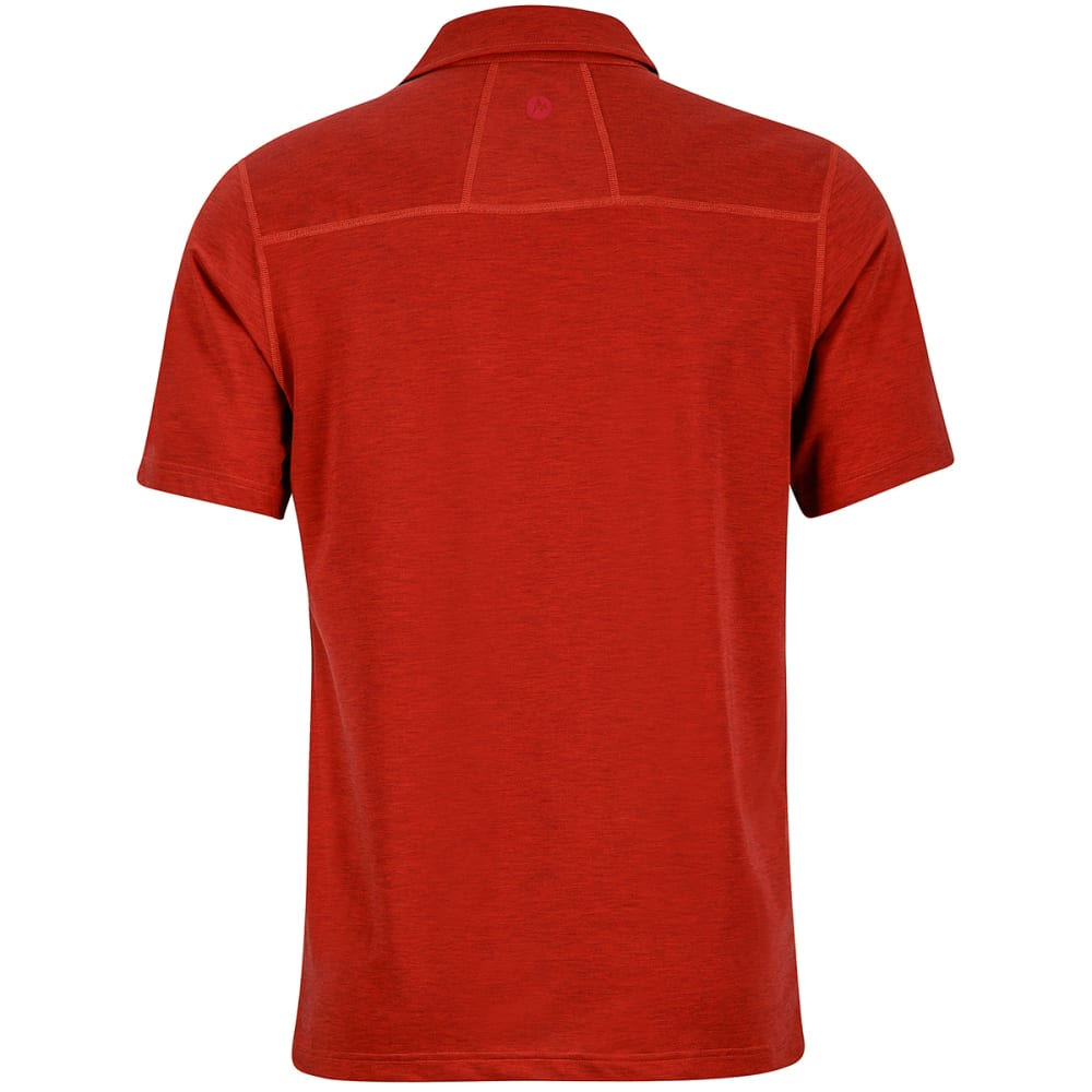 MARMOT Men's Wallace Short-Sleeve Polo Shirt - 6898-RETRO RED HTHR