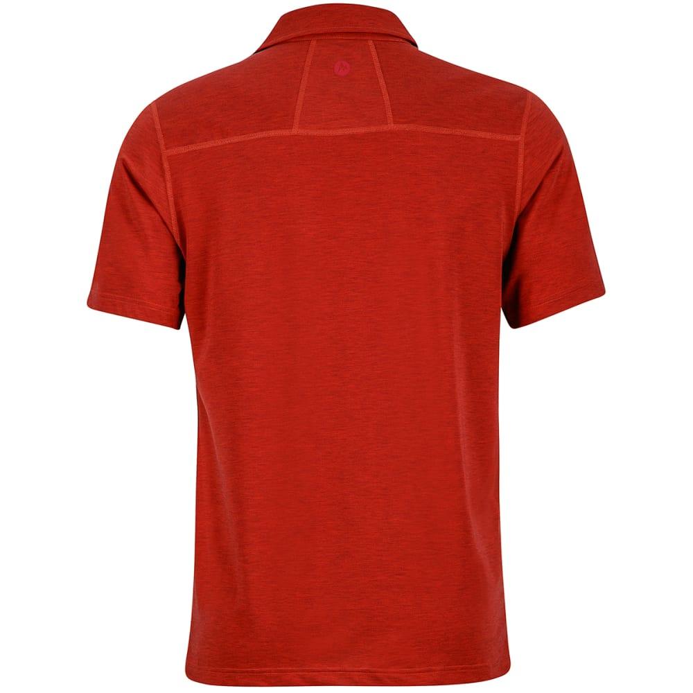 MARMOT Men's Wallace Short-Sleeve Polo Shirt - 6898-RETRO RED HTHR