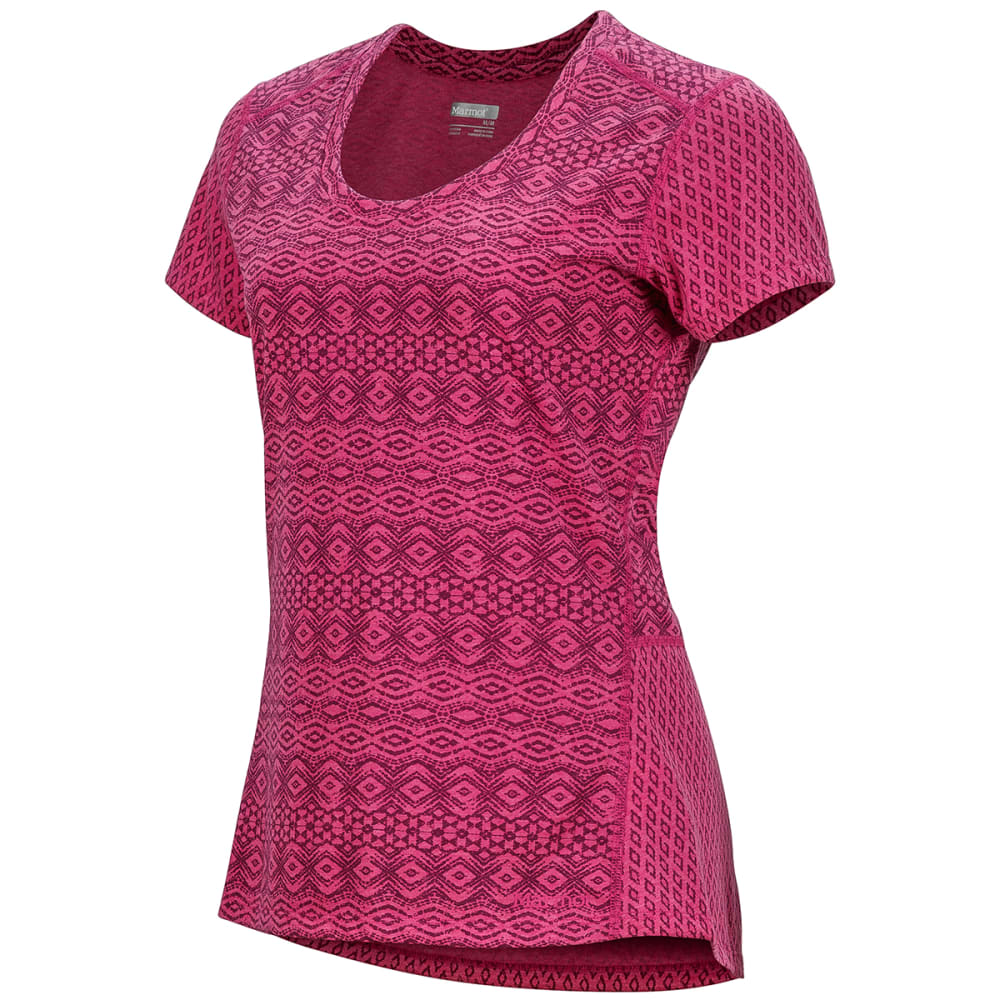 MARMOT Women's Logan Short-Sleeve Tee - 8910-BRIGHT FUSCHIA