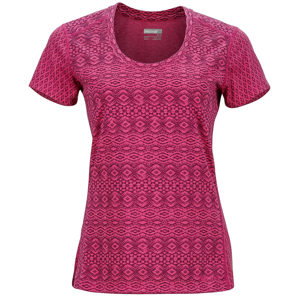 MARMOT Women's Logan Short-Sleeve Tee - 8910-BRIGHT FUSCHIA