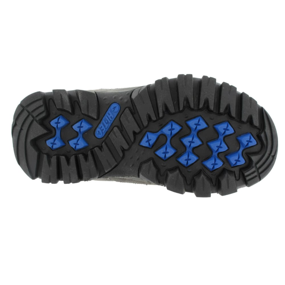 HI-TEC Boys' Hillside Low WP Hiking Shoes, Charcoal/Blue/Black - CHARCOAL