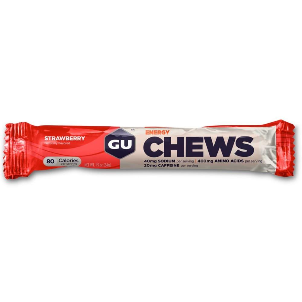 GU Energy Chews, Strawberry - STRAWBERY