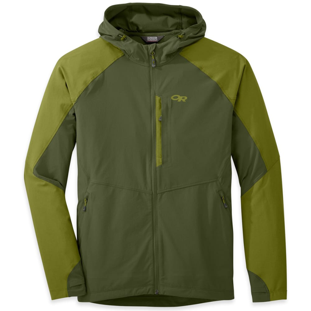 OUTDOOR RESEARCH Men's Ferrosi Hooded Jacket - KALE/HOPS