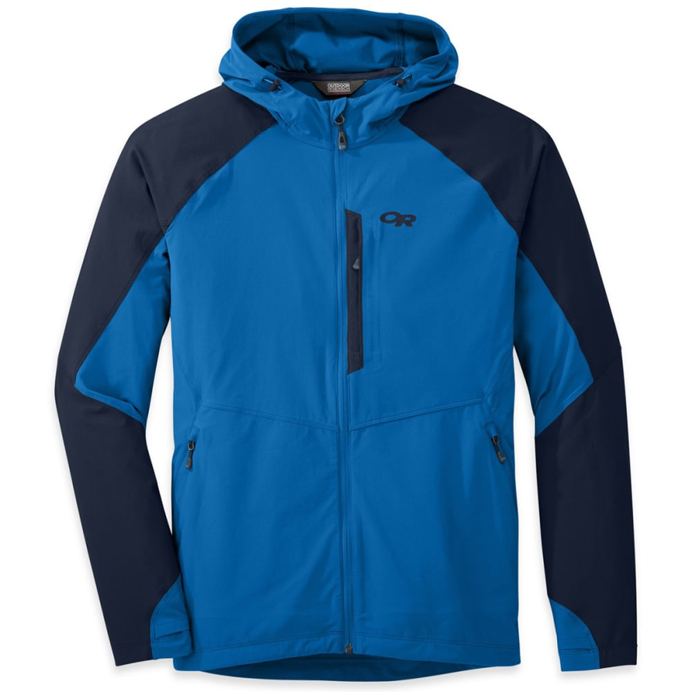 OUTDOOR RESEARCH Men's Ferrosi Hooded Jacket - 0482-GLACIER/NIGHT