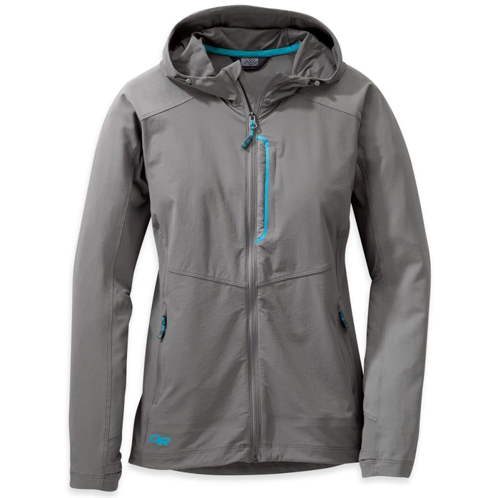 OUTDOOR RESEARCH Women's Ferrosi Hooded Jacket - 1089-PEWTER/TYPHOON