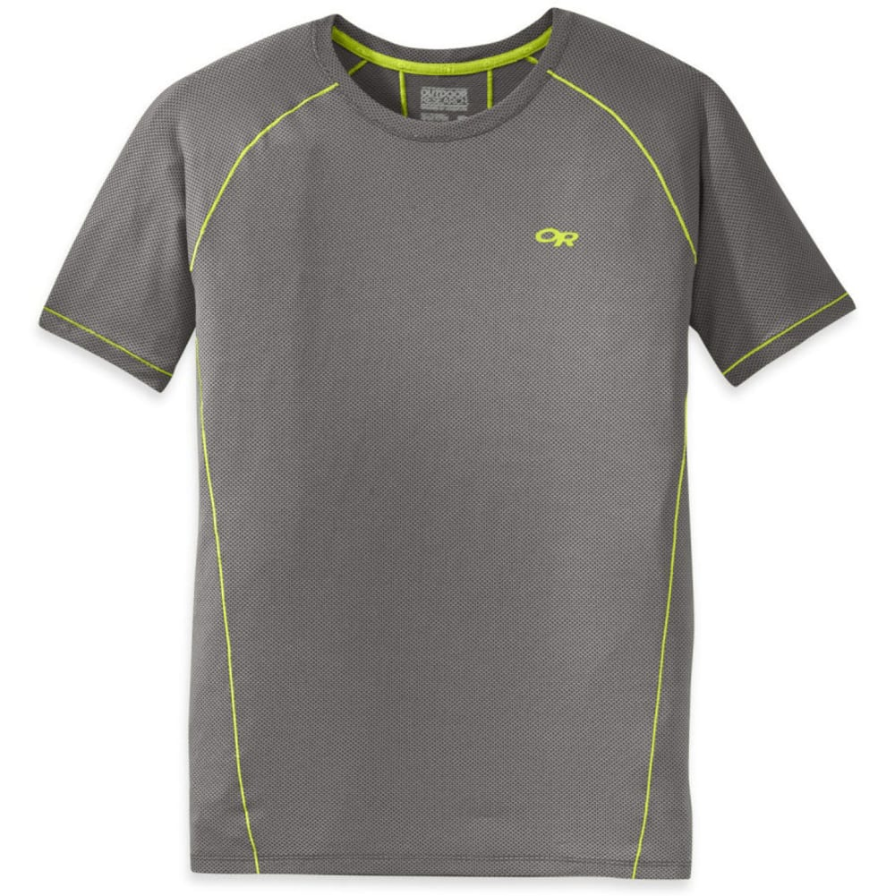 OUTDOOR RESEARCH Men's Gauge Short-Sleeve Tee - 0008-PEWTER