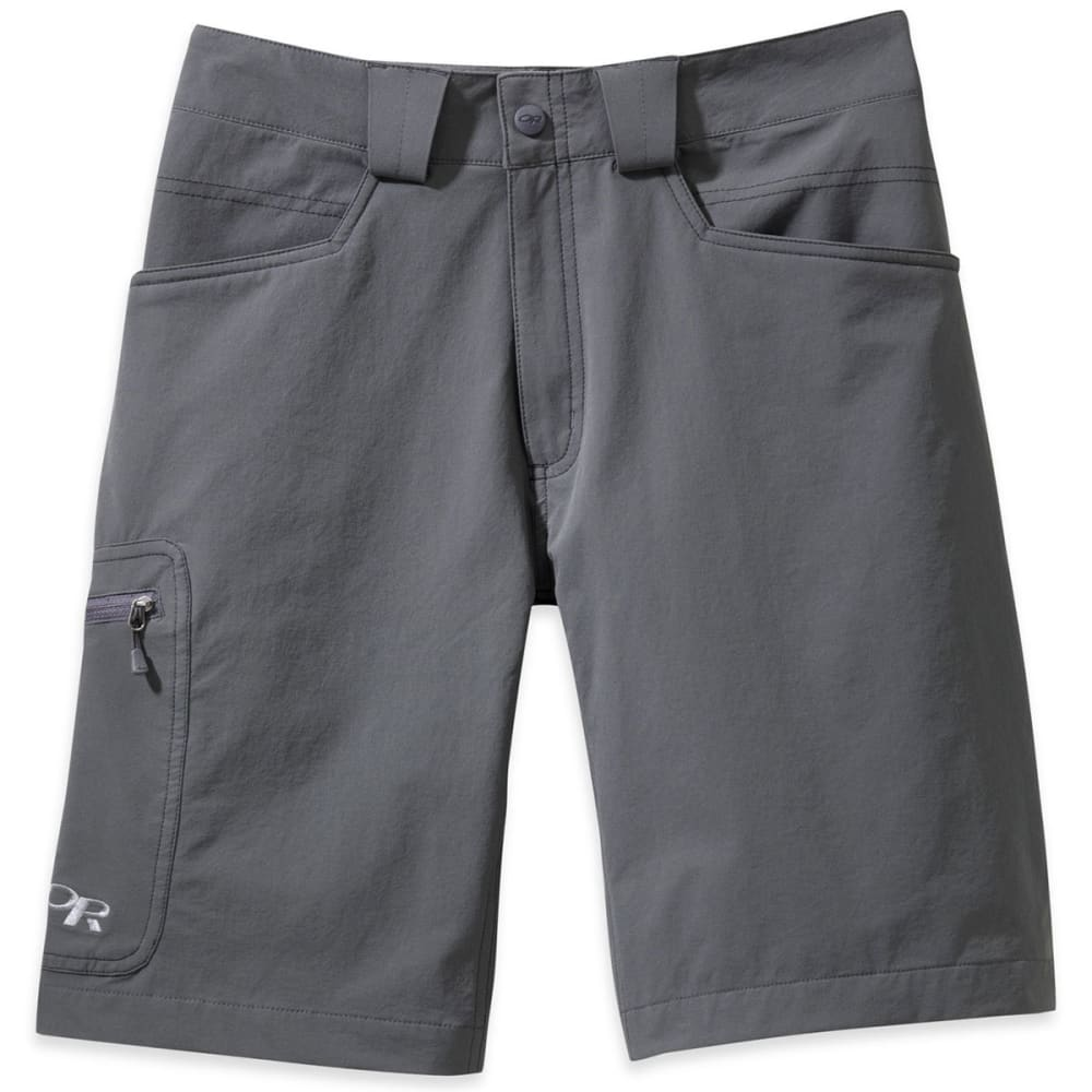 OUTDOOR RESEARCH Men's Voodoo Shorts, 10 IN. - CHARCOAL-0890
