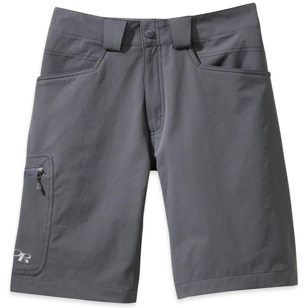 OUTDOOR RESEARCH Men's Voodoo Shorts, 10 In. - CHARCOAL-0890
