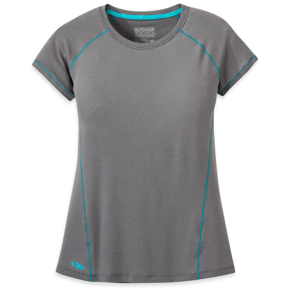 OUTDOOR RESEARCH Women's Gauge Short-Sleeve Tee - 0008-PEWTER
