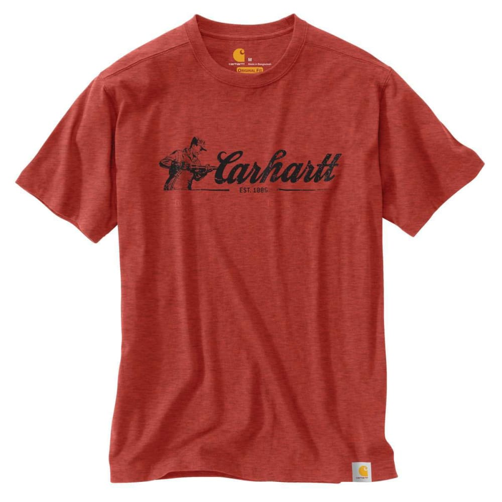 CARHARTT Men's Maddock Graphic Script Short-Sleeve Tee - CHILI HEATHER 041