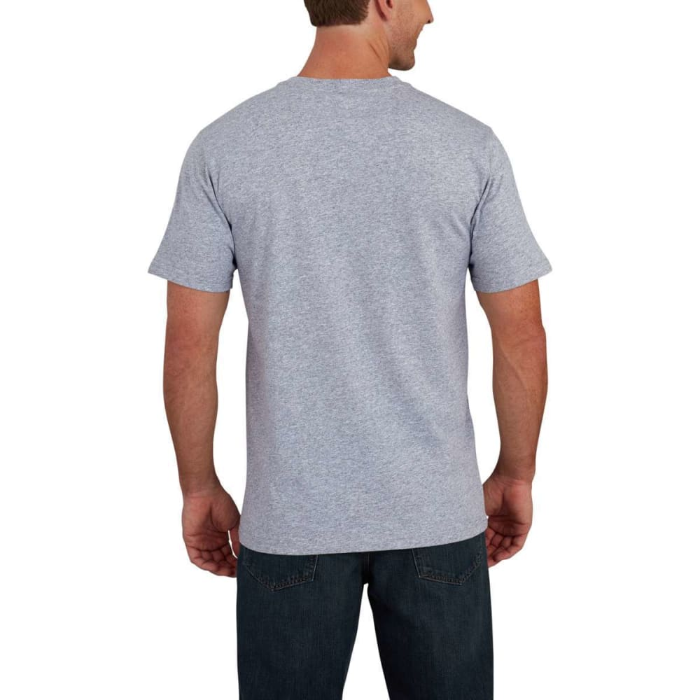 CARHARTT Men's Lubbock Graphic American Branded C Short-Sleeve Tee - HEATHER GRAY 034