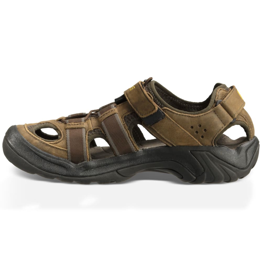 TEVA Men's Omnium Leather Sandals, Brown - BROWN 30