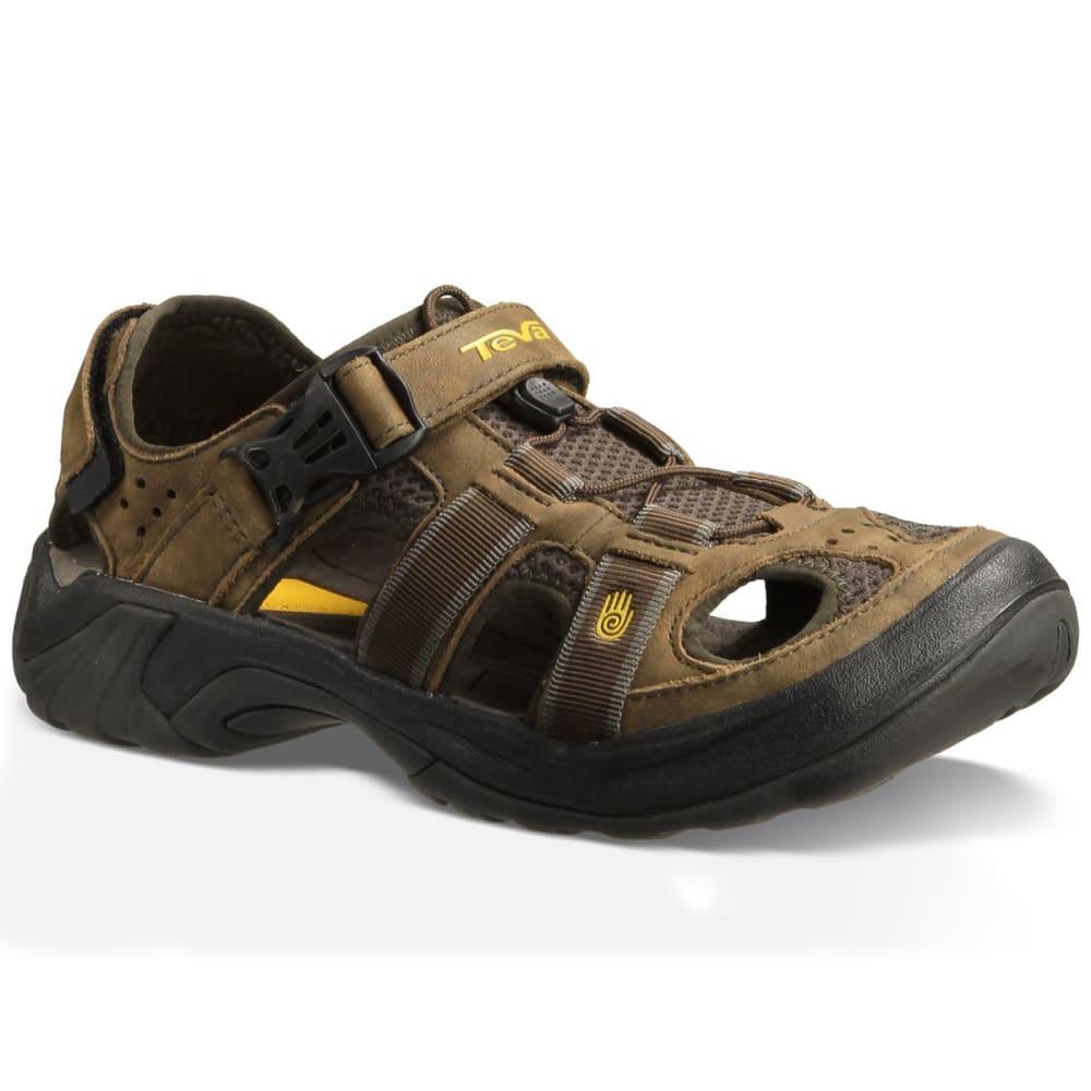 Teva Men S Omnium Leather Sandals Brown Eastern