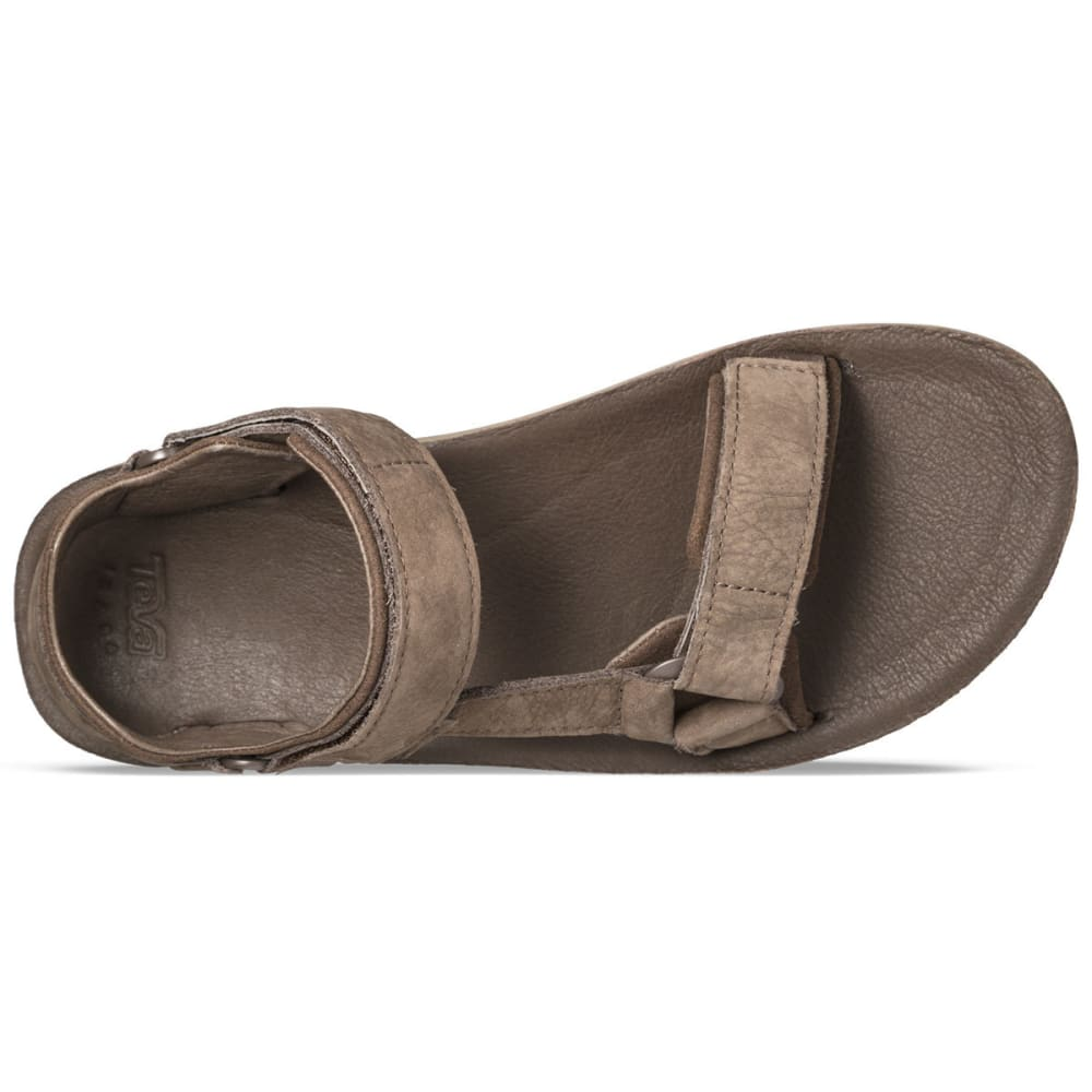 TEVA Men's Original Universal Premier Leather Sandals, Brown - CHOCOLATE BROWN