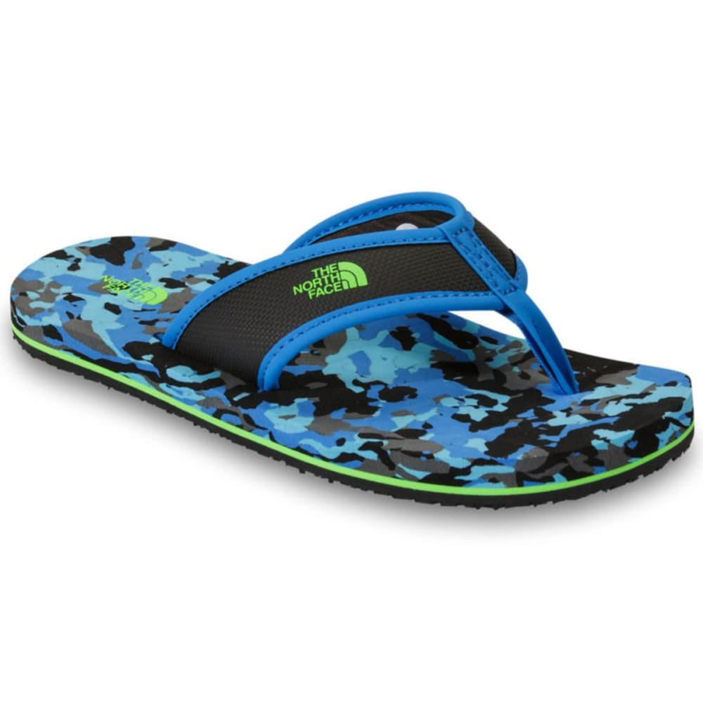 THE NORTH FACE Boys' Base Camp Flip-Flops, Black/Brilliant Blue - BLACK