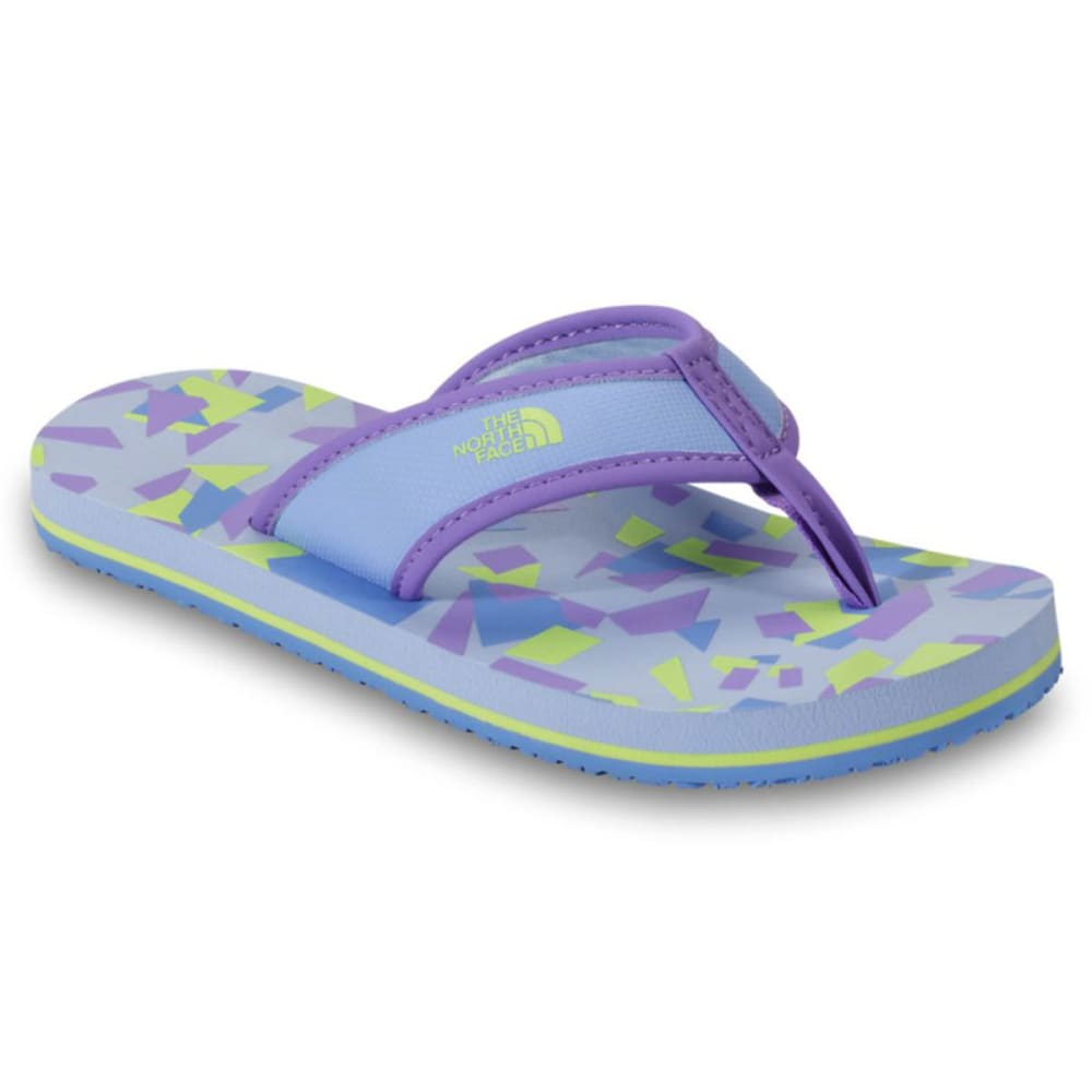 THE NORTH FACE Girls' Base Camp Flip-Flops, Purple/ Rave Green - PURPLE
