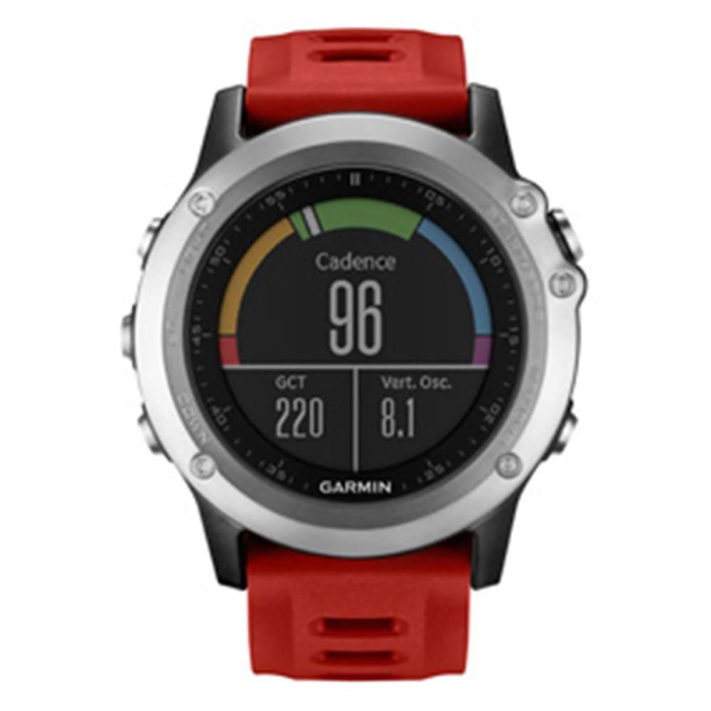 GARMIN Fenix 3 Training Watch - SILVER/RED