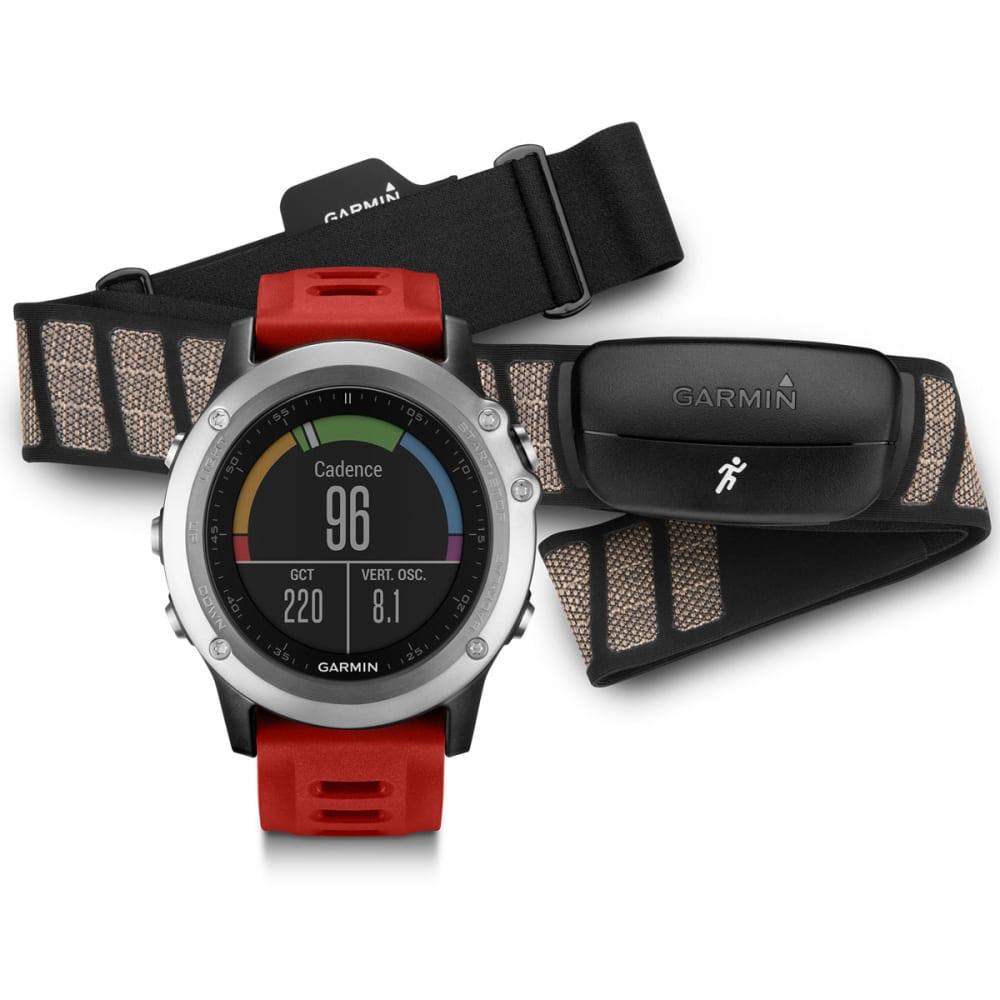 GARMIN Fenix 3 HRM-Run Bundle - SILVER/RED