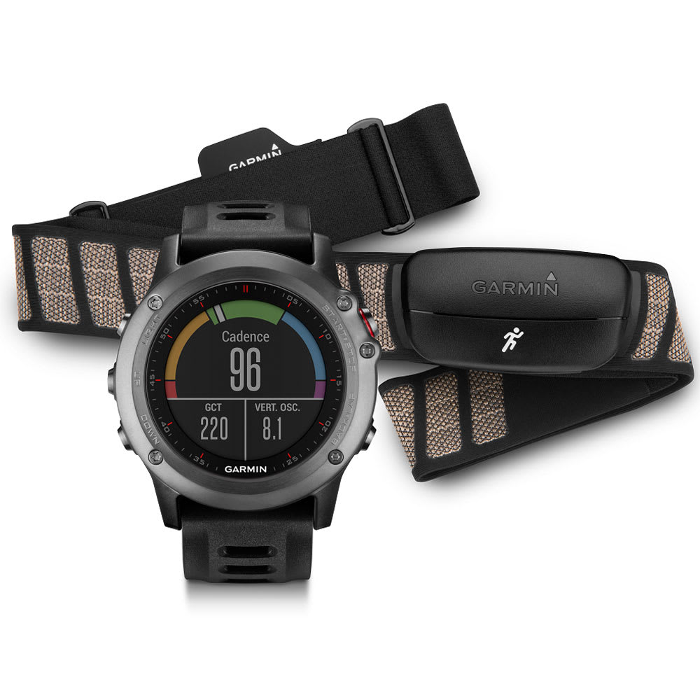 GARMIN Fenix 3 HRM-Run Bundle - GREY/BLACK