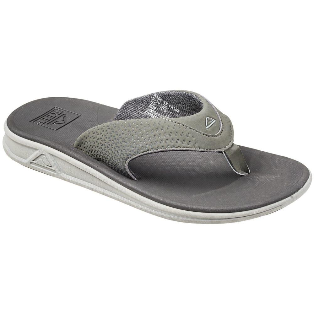 Reef Men's Rover Sandals, Grey - Black