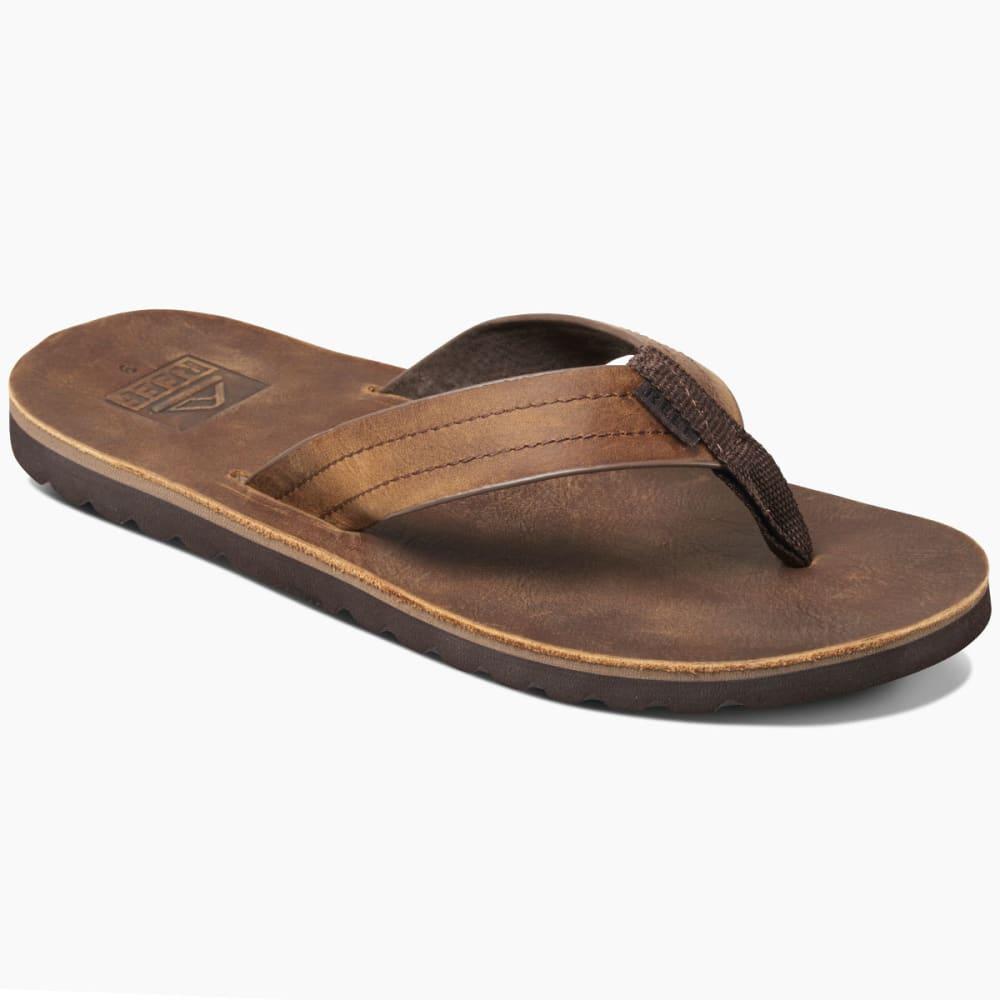 Reef Men's Voyage Le Sandals, Dark Brown - Brown
