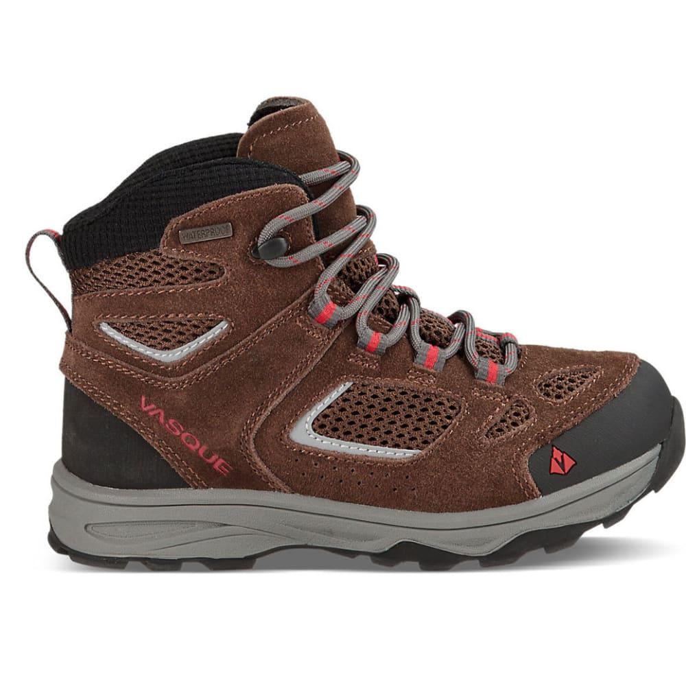 VASQUE Kids' Breeze III UltraDry Hiking Boots, Slate Brown/Chili Pepper - BROWN