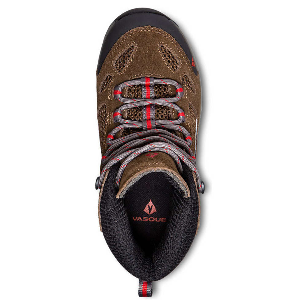 VASQUE Kids' Breeze III UltraDry Hiking Boots, Slate Brown/Chili Pepper - BROWN