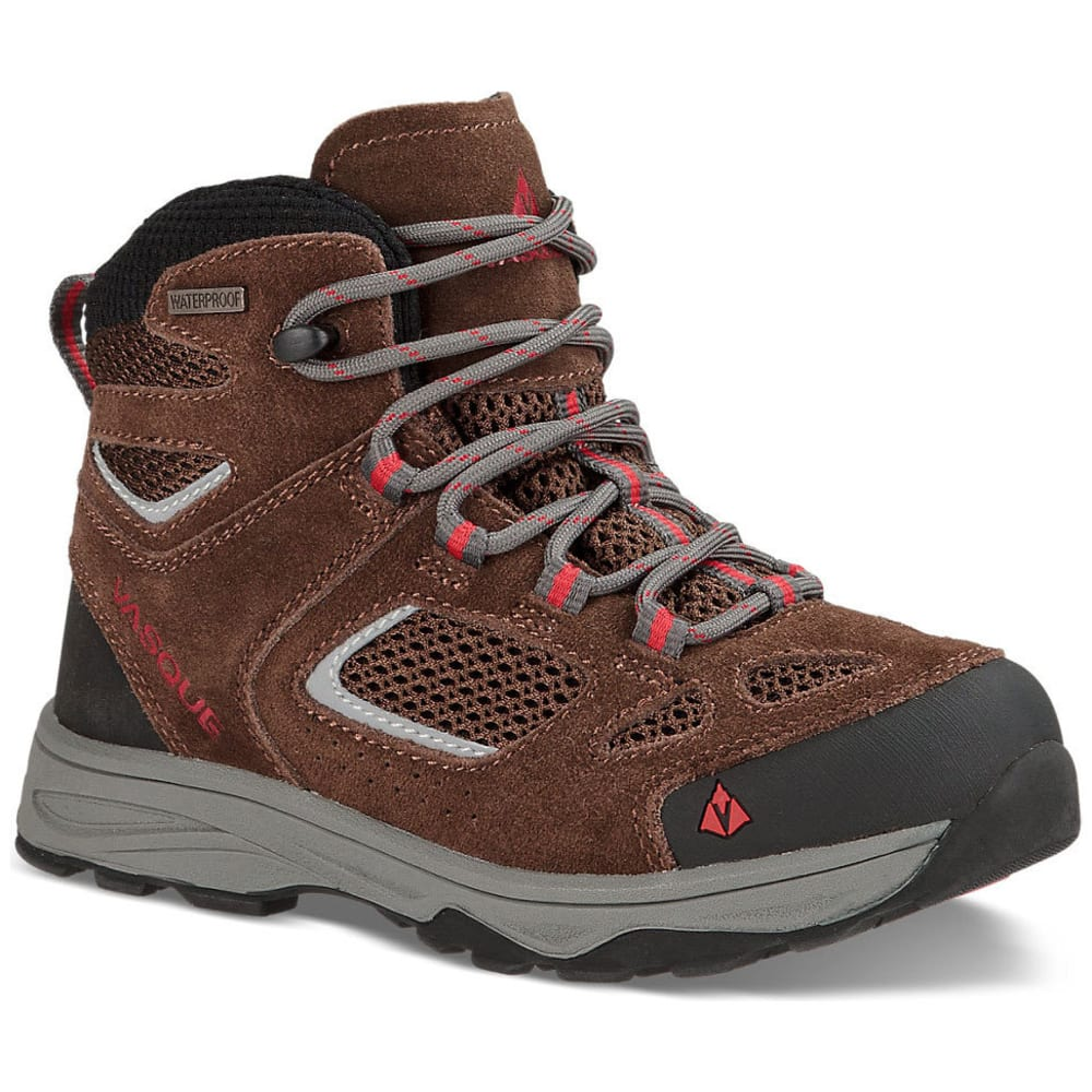 Vasque Kids Breeze Iii Ultradry Hiking Boots, Slate Brown/chili Pepper - Brown