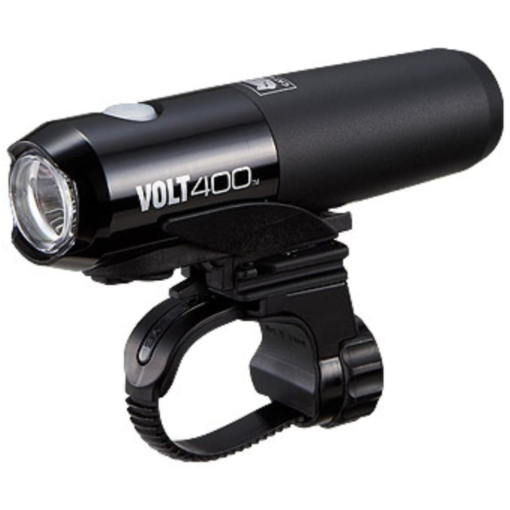 CATEYE Volt 400 Rechargeable Bike Light with Helmet Mount - BLACK