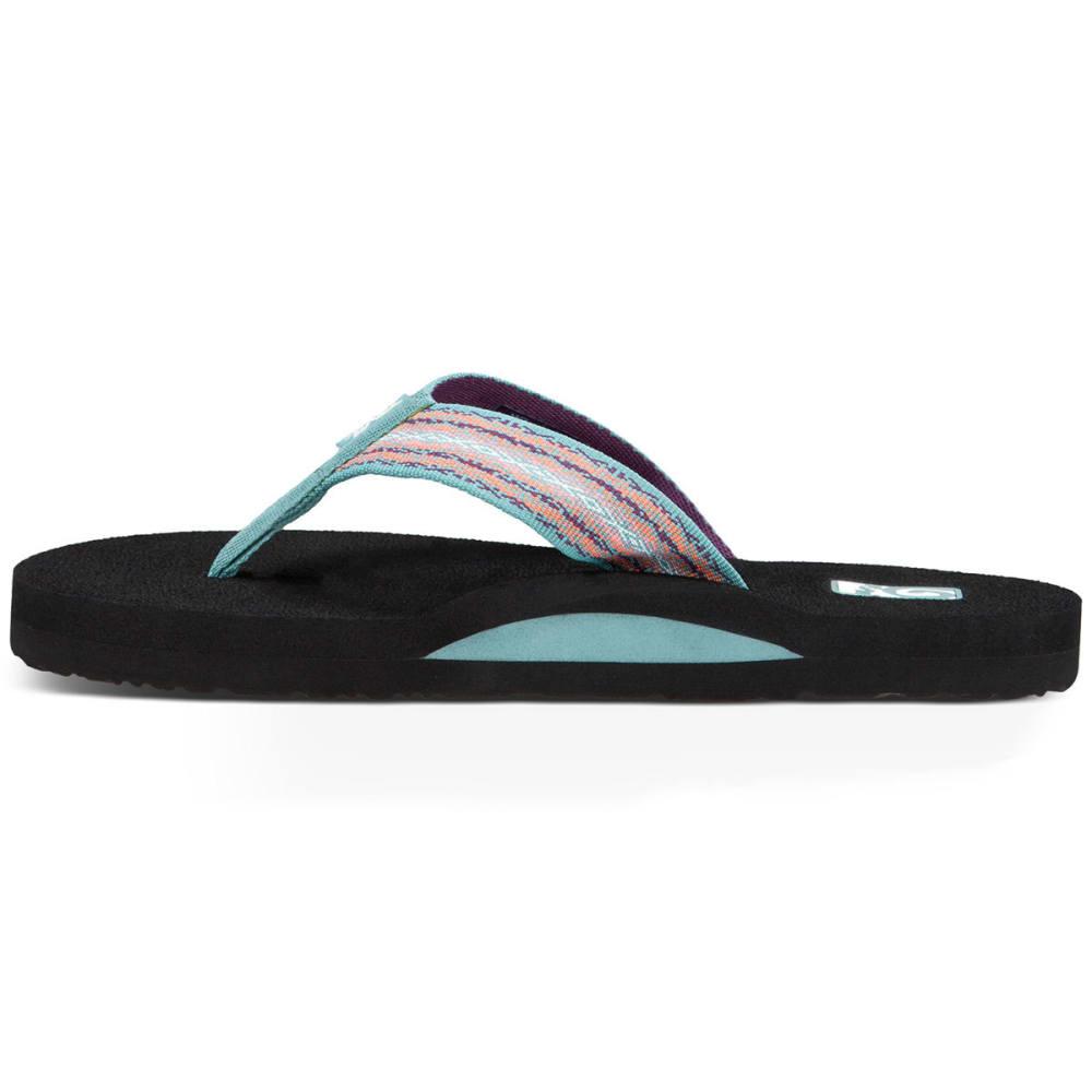 TEVA Women's Mush II Flip Flops, Zoey Teal - TEAL