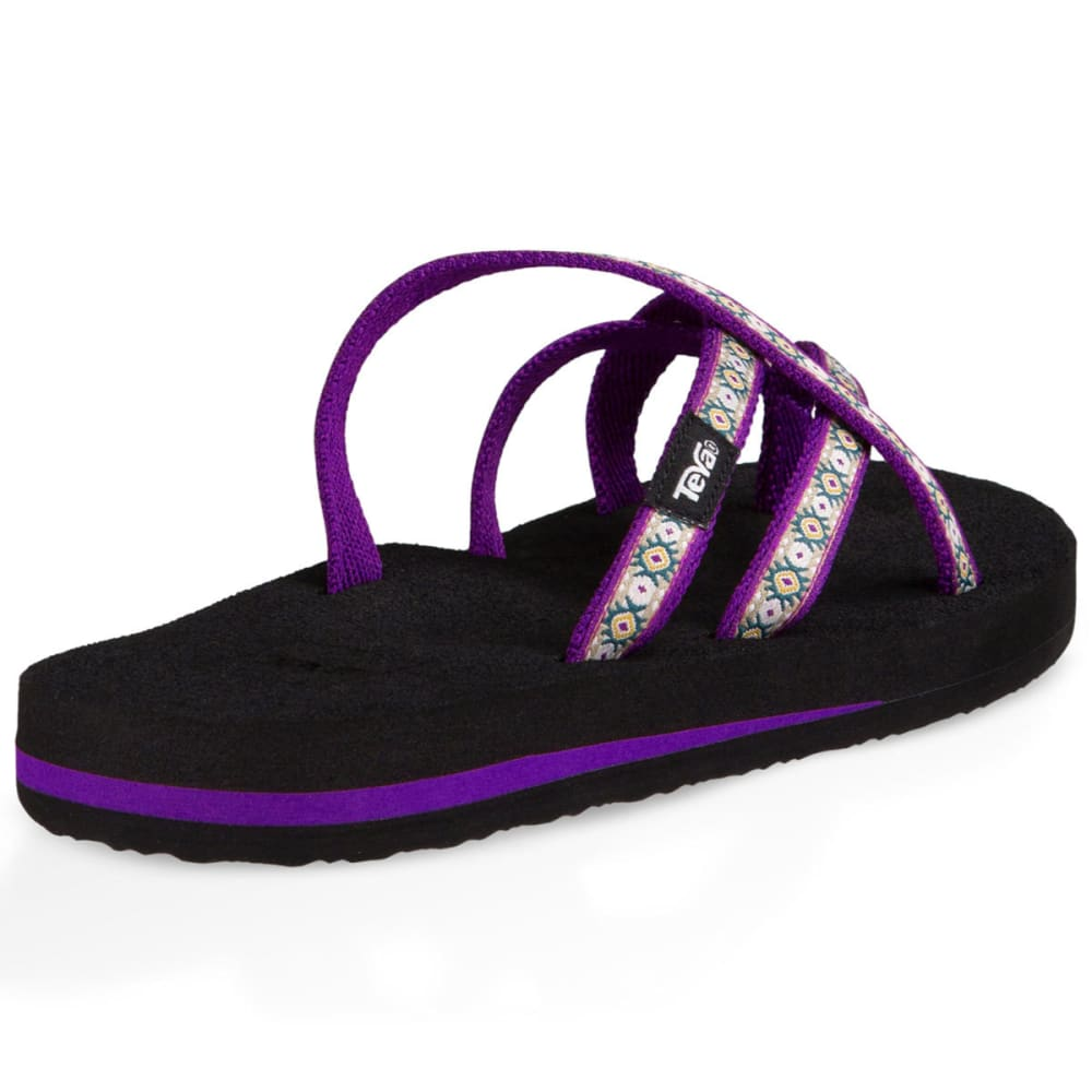 TEVA Women's Olowahu Sandals, Lola Dark Purple - DARK PURPLE