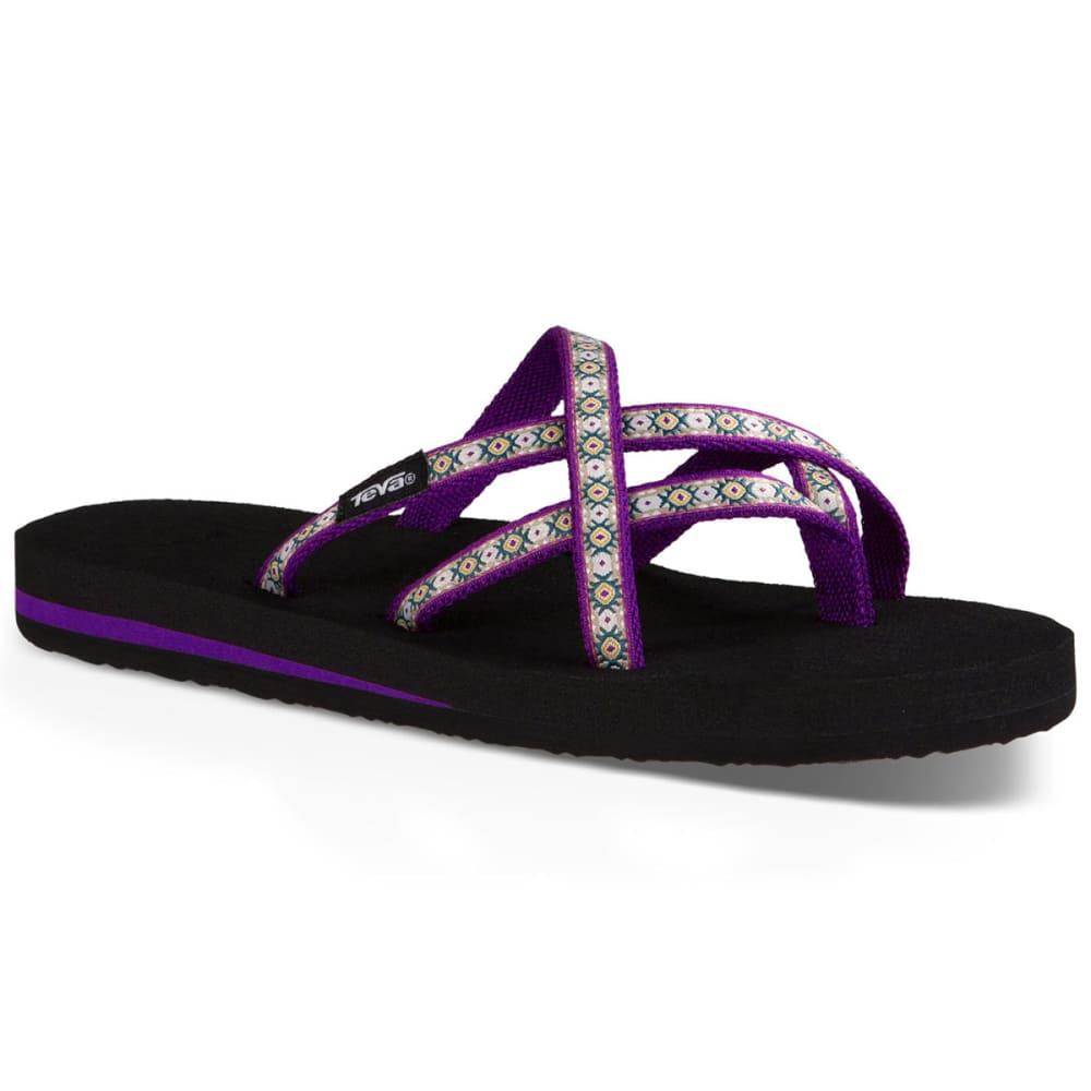 TEVA Women's Olowahu Sandals, Lola Dark Purple - DARK PURPLE