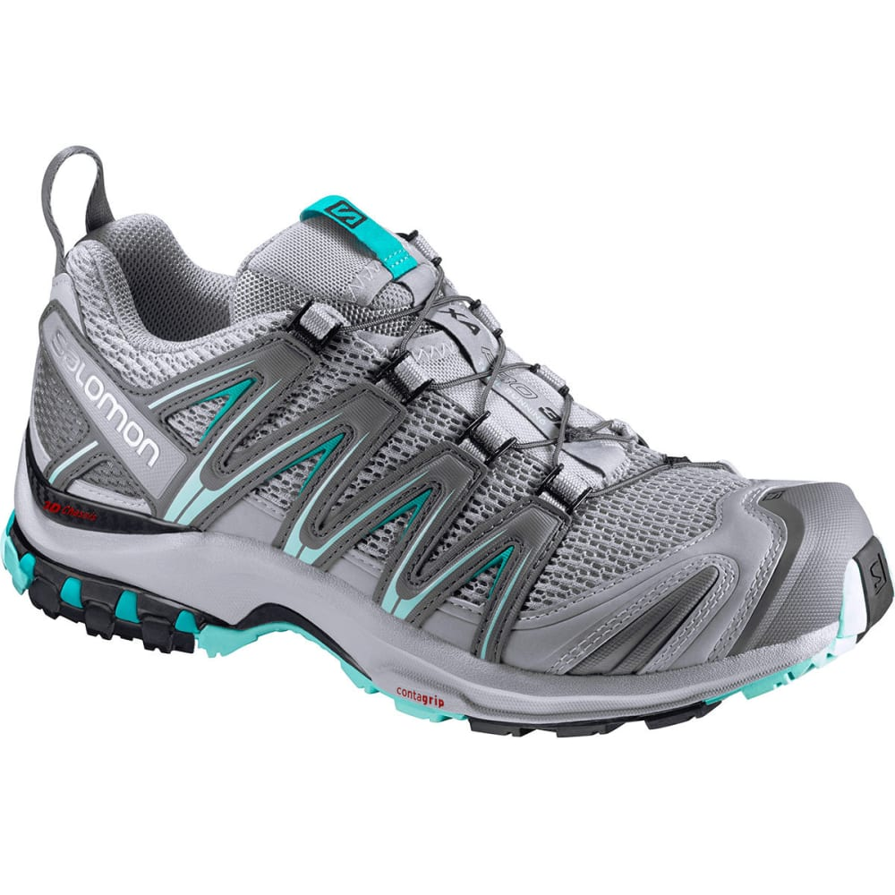 SALOMON Women's XA Pro 3D Trail Running Shoes, Quarry/Pearl Blue/Aruba Blue - QUARRY