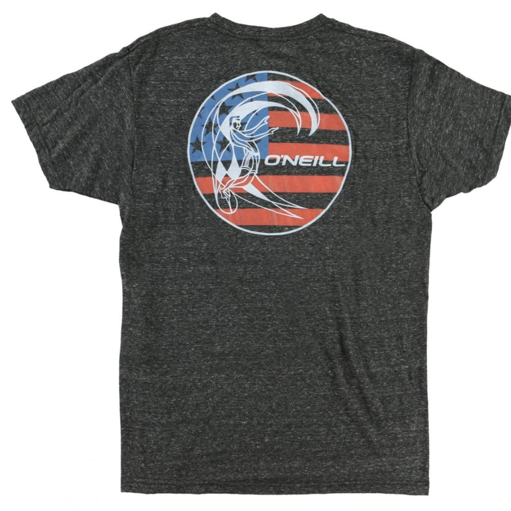 O'NEILL Men's O'Riginals Old Glory Graphic Tee - HBK-HEATHER BLACK