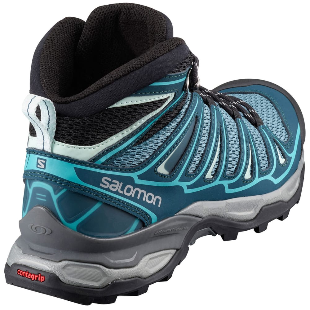 SALOMON Women's X Ultra Mid Aero Hiking Boots, North Atlantic/Reflecting Pond/Ceramic - AERO NORTH ATLANTIC