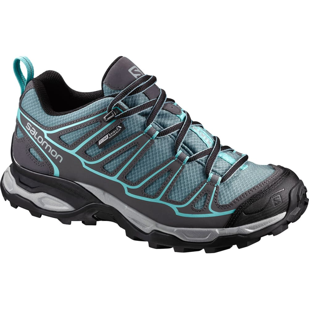 SALOMON Women's X Ultra Prime CS WP Hiking Shoes, Artic/Magnet/Aruba Blue - ARCTIC/MAGNET/BLUE