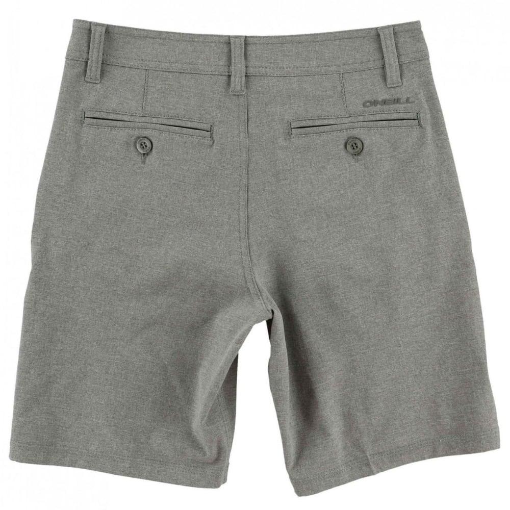O'NEILL Boys' Loaded Heather Hybrid Shorts - HGR-HEATHER GREY