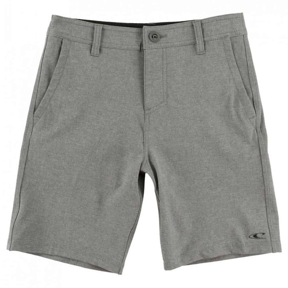 O'NEILL Boys' Loaded Heather Hybrid Shorts - HGR-HEATHER GREY