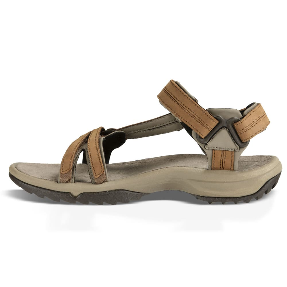 TEVA Women's Terra Fi Lite Leather Sandals, Brown - BROWN